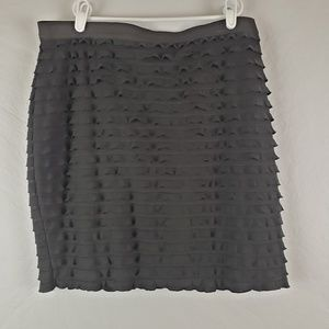 {Banana Republic} Black ruffle skirt